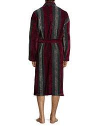 Ike Behar   Purple Terry Cloth Striped Robe for Men   Lyst