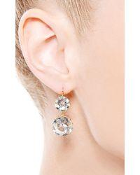 Renee Lewis - Metallic One Of A Kind Round Rock Quartz Earrings - Lyst