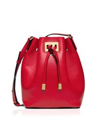 Michael Kors | Red Crossbody - Miranda Medium Drawstring Messenger | Lyst