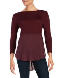 Two By Vince Camuto | Purple Layered Effect Top | Lyst
