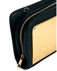 ASOS - Metallic Cross Body Bag with Faux Plate Detail - Lyst