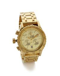 Nixon | Metallic 38-20 Chrono Watch - Gold | Lyst