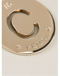 Fendi | Metallic Circle Pendant | Lyst