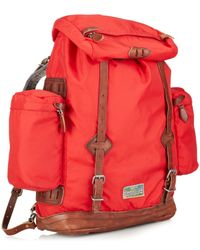 Polo Ralph Lauren | Red Camo Nylon Utility Backpack for Men | Lyst