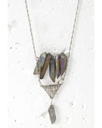 Forever 21 | Metallic Faux Crystal Necklace | Lyst