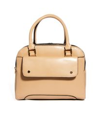 ASOS - Natural Front Pocket Bowler Bag - Lyst