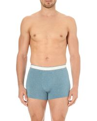Derek Rose | Blue Ethan Melange Stretch Micro-modal Trunks for Men | Lyst