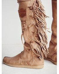 Free People | Brown Carpario Tall Moccasin | Lyst