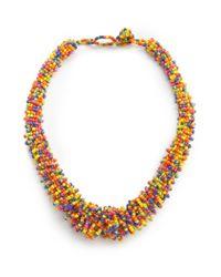 Mango | Multicolor Bead Necklace | Lyst
