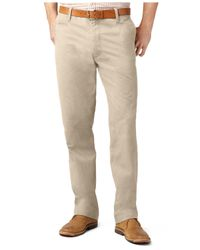 Dockers | Natural D2 Straight Fit Off-The-Clock Flat Front Pants for Men | Lyst
