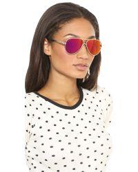 Wildfox - Pink Airfox Ii Deluxe Sunglasses - Silver/purple - Lyst