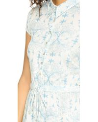 Carolina K - Blue Nathalie Short Sleeve Dress - Lyst