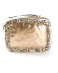 Rosa Maria - Metallic Pavé Diamonds Ring - Lyst