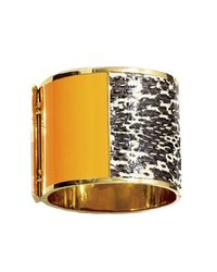 Sarah Magid | Metallic Montparnasse Cuff Bracelet, Tangerine And Periwinkle | Lyst