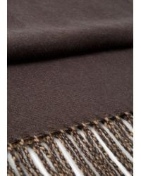 Mango - Brown Bicolor Scarf for Men - Lyst