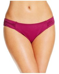 Tommy Bahama | Purple Ruched Side-tab Hipster Bikini Bottom | Lyst