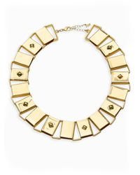 ABS By Allen Schwartz | Metallic Sensation Plaque Collar Necklace | Lyst