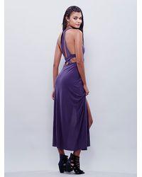 Free People - Purple Geri Maxi Slip - Lyst