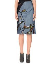Marni - Gray Knee Length Skirt - Lyst