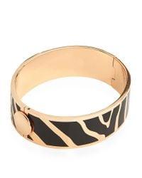 Halcyon Days | Metallic Rose Gold Zebra Hinged Bangle | Lyst