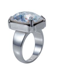 Nadia Minkoff | Metallic Silver Patina Oblong Stone Ring | Lyst