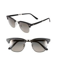 Ray-Ban - Black 'clubmaster' 51mm Folding Sunglasses for Men - Lyst