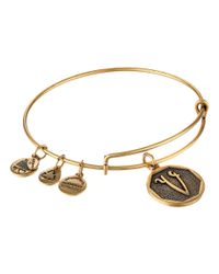 ALEX AND ANI | Metallic Art Infusion Sand Dollar Bangle | Lyst
