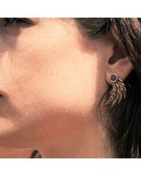 Pamela Love | Metallic Feather Earrings | Lyst