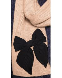 kate spade new york - Natural Sugar Plum Stitched Bow Scarf - Deco Beige - Lyst