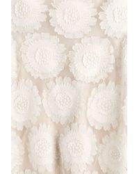 Ermanno Scervino - Pink Embroidered Dress - Beige - Lyst
