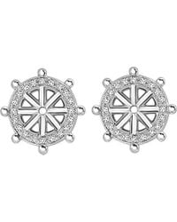 Theo Fennell | 18ct White-gold And Diamond Wheel Iconette Earrings | Lyst