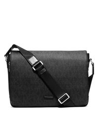 Michael Kors | Black Signature Messenger Bag for Men | Lyst