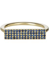 Jennifer Meyer - Blue Rectangle Ring-Colorless Size 6.5 - Lyst