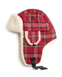 Brooks Brothers - Red Signature Tartan And Shearling Trapper for Men - Lyst