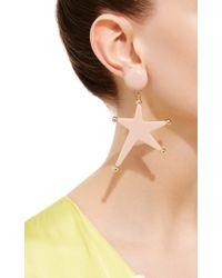 Marni | Pink Star Pendant Earrings | Lyst