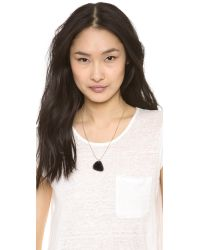 Marc By Marc Jacobs - Metallic Guitar Pick Necklace Black Glitter - Lyst