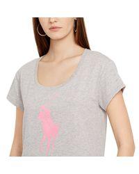 Ralph Lauren | Gray Pink Pony Tee | Lyst