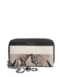 Rag & Bone | Multicolor 'devon' Leather Zip Smartphone Wallet | Lyst