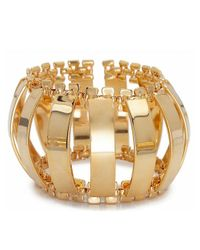 Lele Sadoughi - Metallic Modern Garden Caterpillar 14K Gold Brass Cuff Bracelet - Lyst