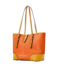 Dooney & Bourke | Orange Claremont Python Dover Tote Bag | Lyst