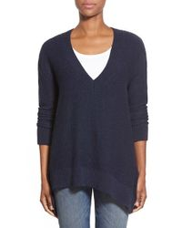 Dex | Blue Oversize V-neck Sweater | Lyst
