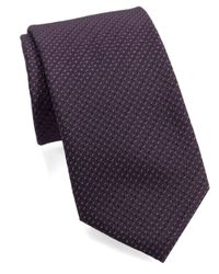 William Rast | Purple Textured Dot Tie for Men | Lyst