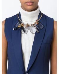 Marni   Metallic Embellished Necklace   Lyst