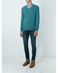 Polo Ralph Lauren - Blue V-neck Sweater for Men - Lyst