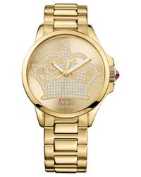 Juicy Couture - Metallic Women'S Jetsetter Gold-Tone Stainless Steel Bracelet Watch 38Mm 1901149 - Lyst