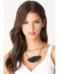 Bebe - Black Agate Short Necklace - Lyst