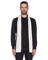 Marc By Marc Jacobs - Natural Colorblocked Cashmere Scarf for Men - Lyst