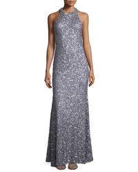 Rachel Gilbert - Metallic Gidget Embellished Fitted Dress - Lyst