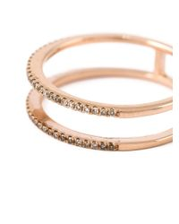 Wouters & Hendrix - Pink Diamond Double Stacked Ring - Lyst