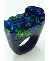 Pasionae | Blue Murano Ring Opaque Base - Delight | Lyst